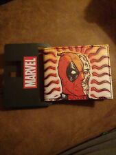 Bioworld Official Bifold Wallet- Marvel- Deadpool Common Sense Wallet NEW