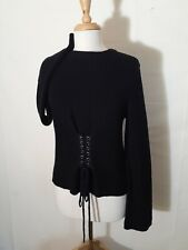 H&M Divided Long Sleeve Corset Sweater Top Size Small