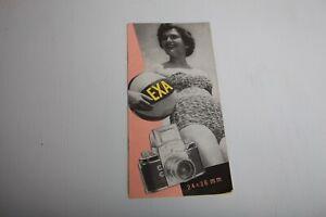 1959 Ihagee Exa 24x36mm Camera & Lens System Sales Brochure