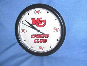 "#327 - KANSAS CITY CHIEFS NFL FOOTBALL ""CHIEFS CLUB"" WALL CLOCK"