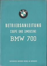 BMW 700 COUPE BERLINA manuale di istruzioni 1959 MANUALE MANUALE BA