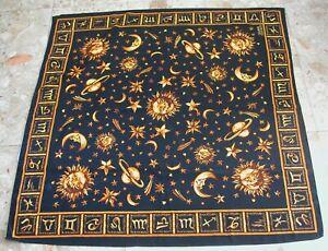 "Gianni Versace 100% Silk Scarf Paris -Zodiac Signs- 90 cm by 85 cm (36"" by 34"")"