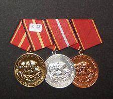 3er DDR Ordensspange Verdienstmedaille el Nva s88