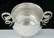 More details for impressive sterling silver porringer, two handled bowl, london 1927