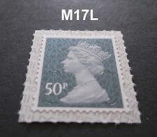 2017 50p M17L Machin SINGLE STAMP from Counter Sheet