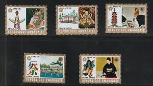JAPAN: EXPO '70 in OSAKA , Rwanda stamps,