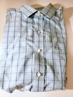 Brooks Brothers Men's Size 16 34/35 Dress Shirt Button Down Blue White Checkered