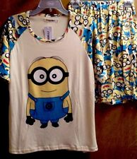 Despicable Me Minions Pajamas Set 2 PC Short Sleeve Top Shorts NWT M* Fits S-M