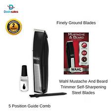 Wahl Wa5537-4422 Mustache & Beard Battery Trimmer Hair Clipper