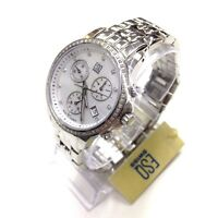 ESQ MOVADO Ladies Watch Luxe Mother of Pearl Dial Diamonds Chronograph 07101252