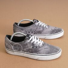 Vans Mens Sneakers Low Top Gray Canvas Tie-dye Size 10