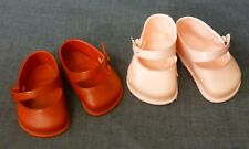 2 PAIRS 1950s shoes for Pedigree Doll, Cinderella shoes , Vintage doll shoes