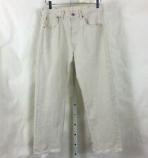 Levis Mens White Oak Cone Denim 501 Button Fly Jeans Cream Color Size 32 x 28