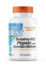 Doctor?s Best, Betaine HCl Pepsin and Gentian Bitters, 650mg, 120 Kapseln