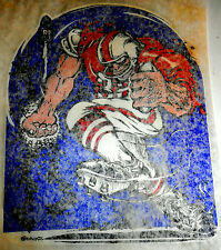 """Vintage 1972 Roach """"Crazy Football Player"""" Iron-on Transfer"""