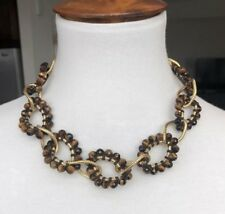 Eye Chain Link Statement Necklace New Authentic Chan Luu Tiger's