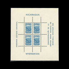 NICARAGUA, Sc #RA60a, MNH, 1949, S/S, Amateur Baseball, Sports, 1RHI