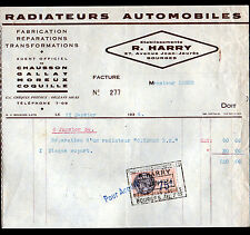"""BOURGES (18) RADIATEURS AUTOMOBILES : CHAUSSON GALLAY MOREUX COQUILLE """"R. HARRY"""""""