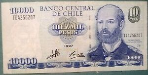 CHILE 10000 10 000 PESOS NOTE FROM 1997, P 157 b