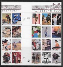 US Stamps #3502 a-t 34c. American Illustrators Gutter Block of 20 MNH