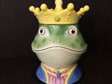 Colorful Fun Frog Prince Snack Cookie Jar Kitsch Not Disney Storybook Daycare
