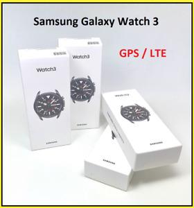 SAMSUNG Galaxy Watch 3 45mm LTE 4G Mystic Black SM-R845F Händler OVP NEU