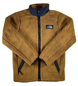 Boys The North Face Jacket Campshire Full Zip Sherpa Fleece Warm Soft Brown L XL