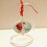 1982 Hallmark Ceramic Have You Been A Good Little Gull Santa & Seagull Ornament