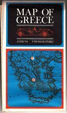 Map of Greece Athens Thessaloniki Vintage Map 1969
