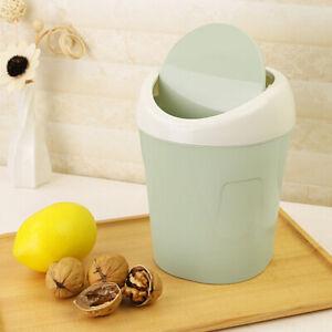 HK- Desktop Mini kippen Deckel Zuhause Wohnzimmer bettseitig Trash Dose