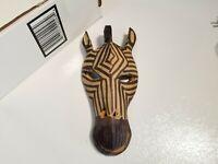 Unique Zebra Mask Hand Carved Wooden Made In Kenya