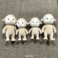 4PCS Sylvanian Families Dale Sheep Family Mom Baby Figures Calico Critters Gift