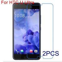 2X Premium Tempered Glass Screen Protector Guard 2.5D 9H For HTC U Ultra/U play