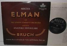 """LW 5290 Bruch Violin Concerto No.2 Mischa Elman LSO Anatole Fistoulari 10"""""""