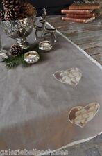 Artefina Tischläufer Decke Herz mit Engel Spitze Landhaus Country Shabby Tisch