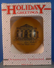 1995 CEDARTOWN,GEORGIA,GA.HISTORICAL MEMORIES OF CHRISTMAS ORNAMENT,OL CITY HALL