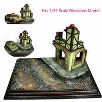 Military Diorama Scenery Ruins Corner House 1/35 Sand Table Model Buildings MV