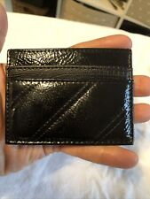 Primark Small Black Shiny Plastic Faux Leather Cardholder Id Wallet