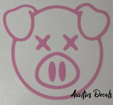 Shane Dawson PIG Iron On Decal (6 X 6 Inches) PINK