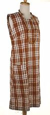 60s Cotton Seersucker Sheath - Brown Plaid Vintage Dress - Sz M - Hey Viv !