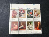1974 Postal Union Stamps, #1530-37, 10 Cent, Block of 8