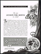 1950s Vintage 1951 Vacheron Constantin Chronometer Sea Pocket Watch Art Print AD