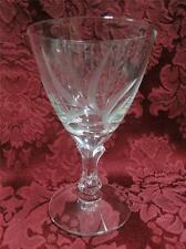 "Fostoria Wheat Stem 6051 Cut: Claret Wine (s) 4 1/2"""