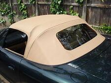 MAZDA Mx5 MK2 SOFT TOP BEIGE Vinyl Cappuccio con finestra di vetro