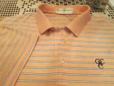 FAIRWAY & GREENE PEACH STRIPED SHIRT SIZE L