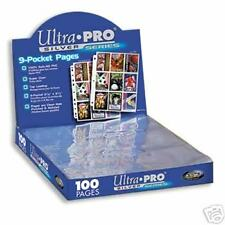 400 ULTRA PRO 9 POCKET BASEBALL CARD PAGES SILVER