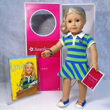 "NEW American Girl DOLL 18"" LANIE IN MEET OUTFIT Bracelet Headband Shoes Book BOX"
