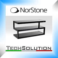 Norstone Esse Nero Hi-Fi Mobile Supporto Porta Elettroniche Dvd Amplificatore