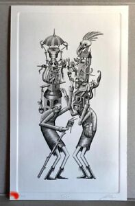 Phlegm Customary Hats Engraving Art Print Poster