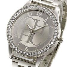 Reloj Acero Inoxidable De Lujo Analógico Cuarzo Moda Mujer Esfera Cristal Niña r